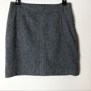 Banana Republic Grey Wool Mini Skirt